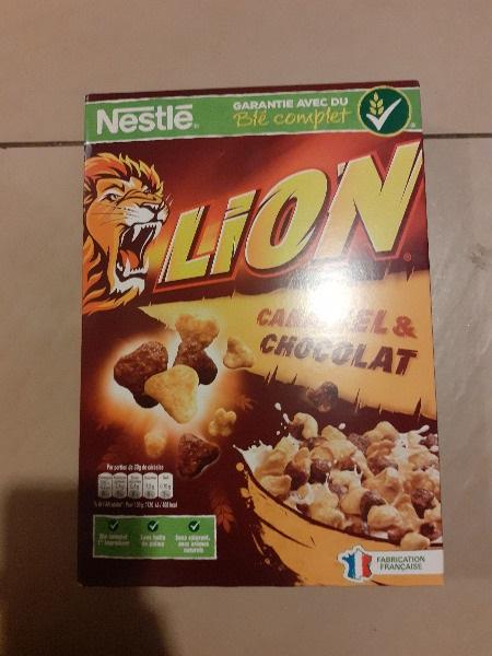 Boite de céréales LION